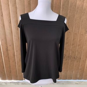 Chico's Black Cold Shoulder Top